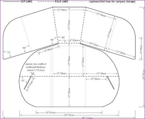 plano de kit cocina solar
